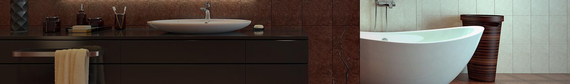 Wnętrze łazienki z wanną